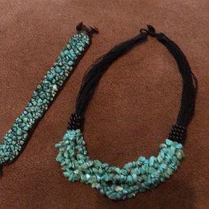 Necklace and bracelet 🦋